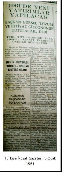 Turkiye Iktisat Gazetesi 5 Ocak 1961 min