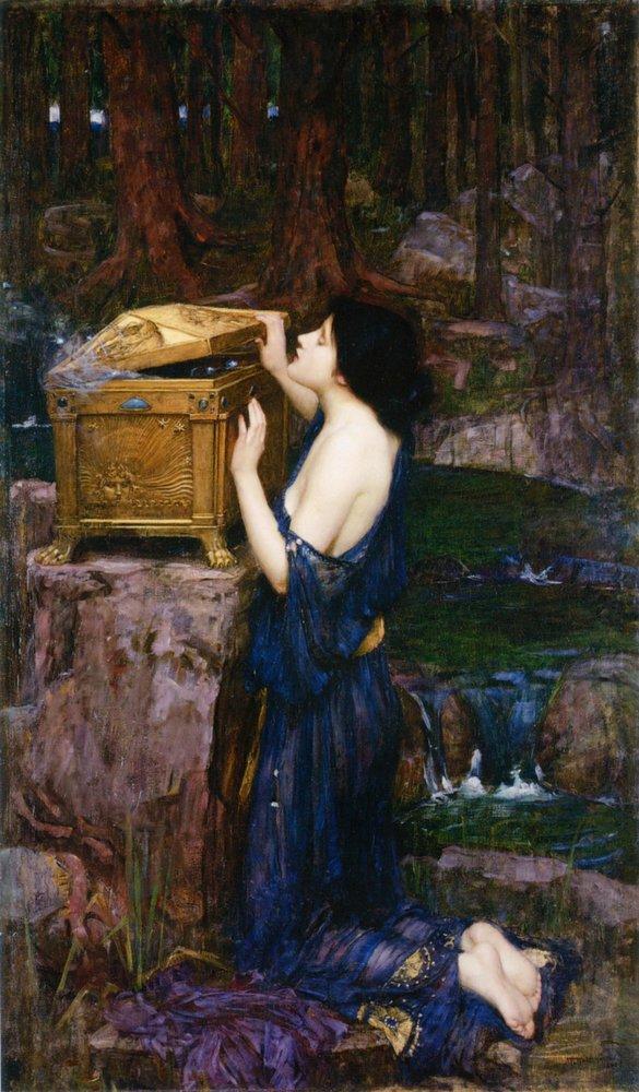 Pandora 5 John William Waterhouse min 1