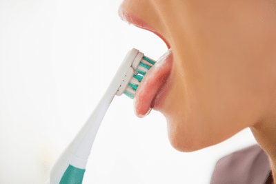 tongue brushing