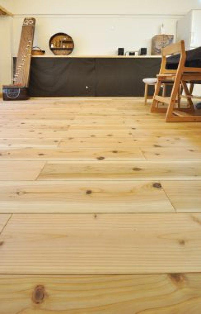 LL45マンション用無垢フローリング 杉150㎜巾 節有 オイル塗装