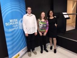 Julian Wakley: 1. Preis, AG II, Tanja Weiss: 1. Preis, AG II (Klasse MMag. Sabine Pawikovsky)