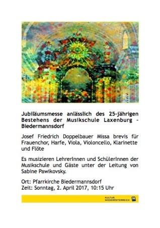 Plakat Doppelbauer Jubiläumsmesse (Biedermannsdorf)