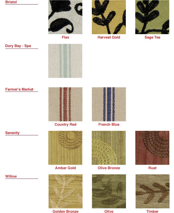 Heritage Lace Color Swatches