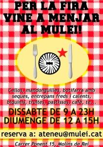 Menjars per Fira a l'Ateneu Mulei