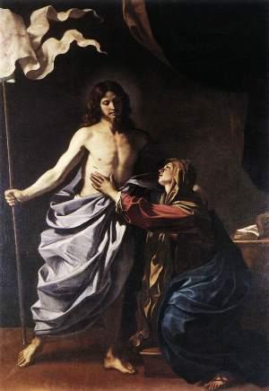 """Guercino - """"O Cristo Ressuscitado aparece à Virgem"""""""