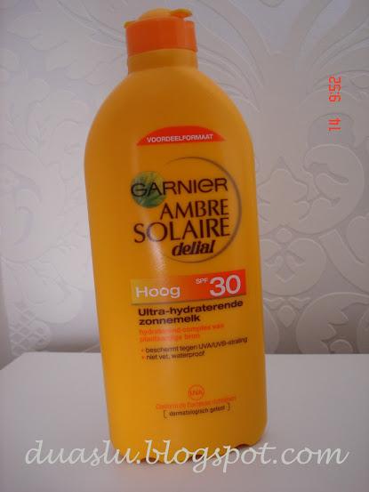 Garnier Ambre Solaire - resenha - review - protetor solar corporal