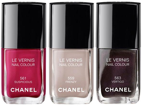 Esmaltes Chanel inverno 2012