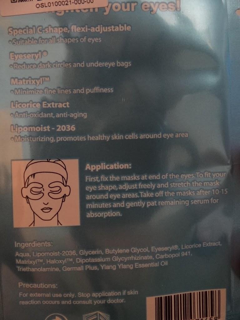 Oslee máscara para olhos - cosméticos orientais
