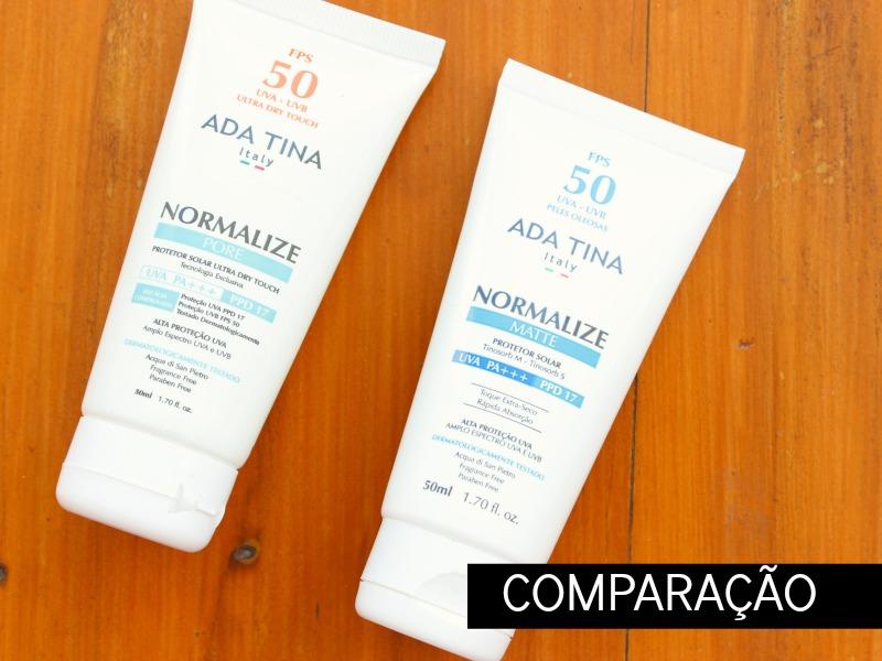 Comparação Normalize Matte x Normalize Pore da Ada Tina