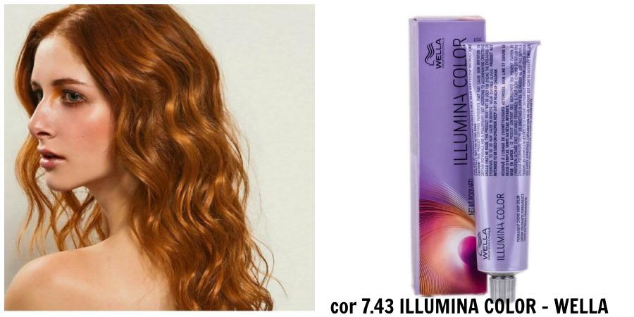 Ruivo com Wella Illumina Color 7.43