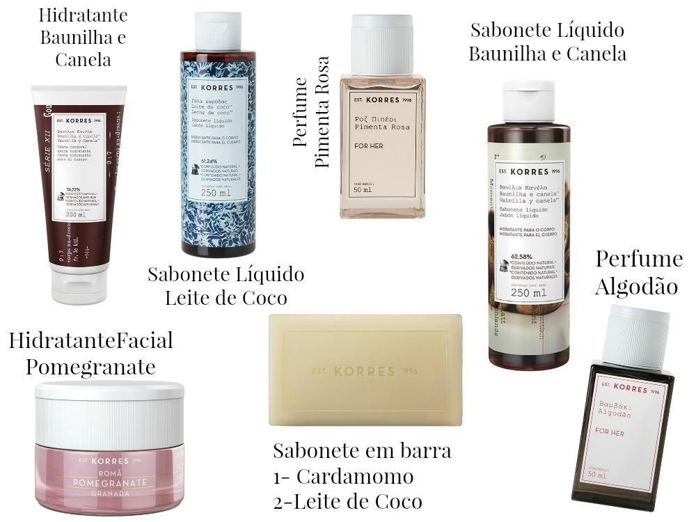 7 indicações de produtos Korres