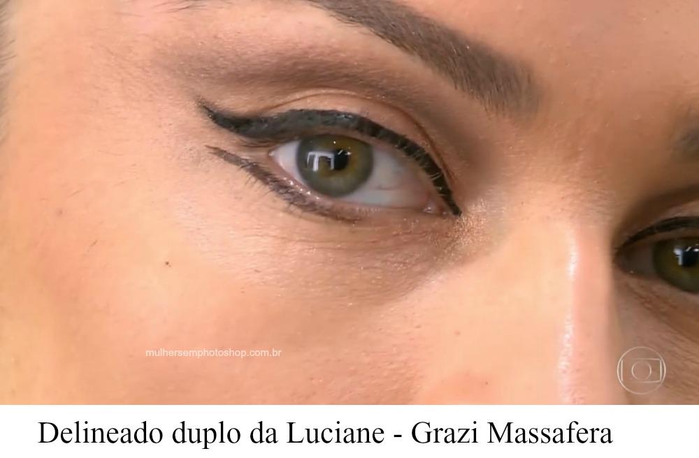 maquiagem dos olhos da Luciane - Grazi Massafera - Lei do Amor