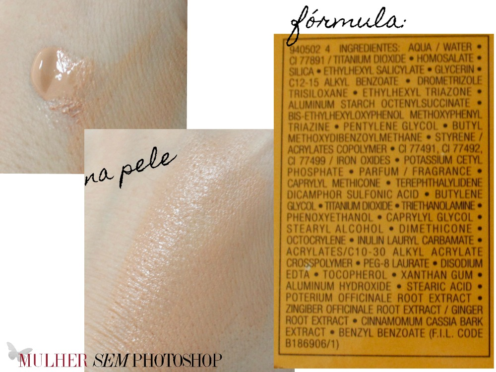 Vichy Ideal Soleil Efeito Base resenha - amostra na pele e formula
