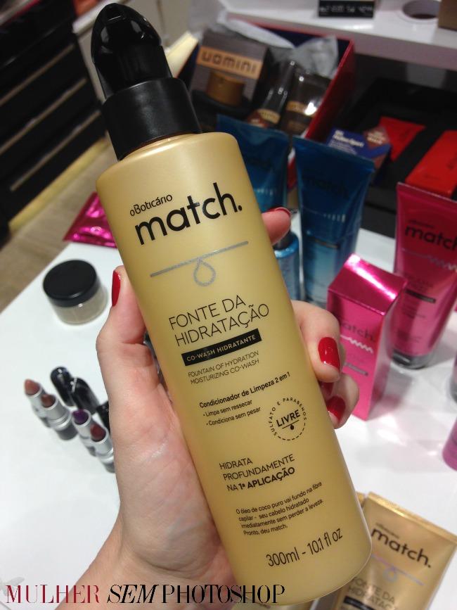 Match Boticario - fonte de hidratação - co-wash