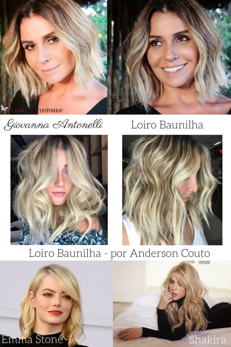 Cor cabelo Giovanna Antonelli Segundo Sol - Luzia - loiro baunilha