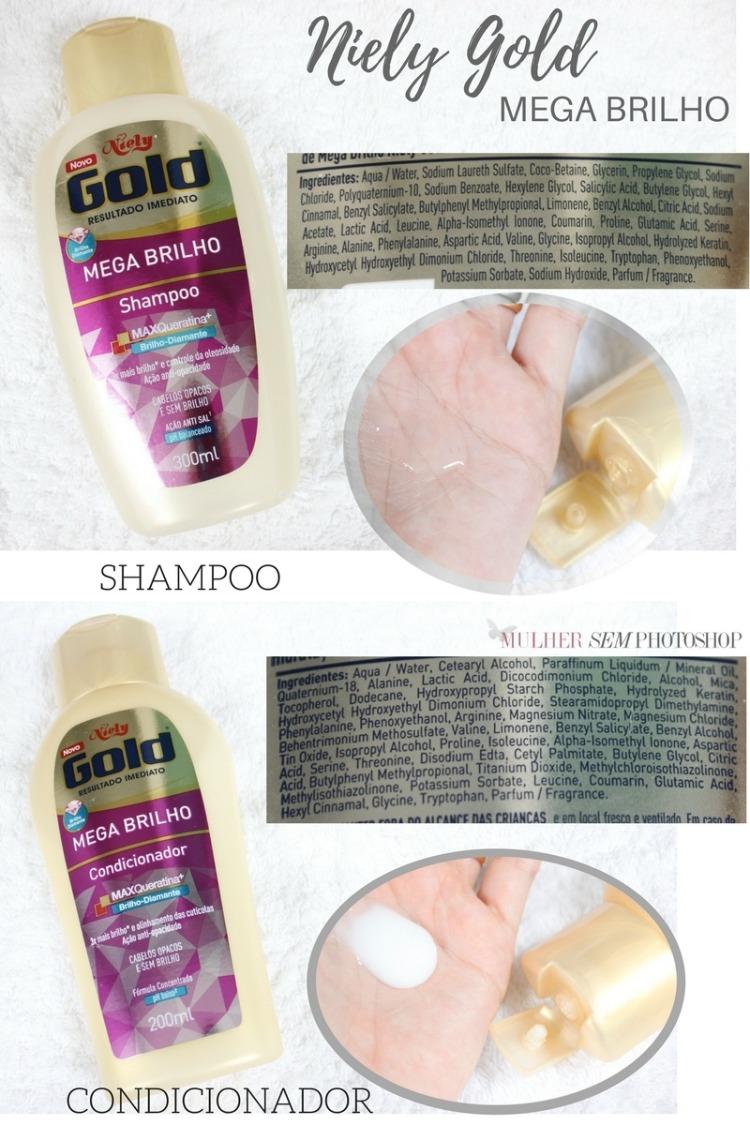 Niely Gold Mega Brilho Shampoo e Condicionador resenha