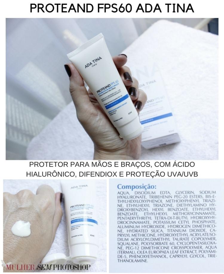 Proteand FPS60 Ada Tina protetor solar para mãos - resenha