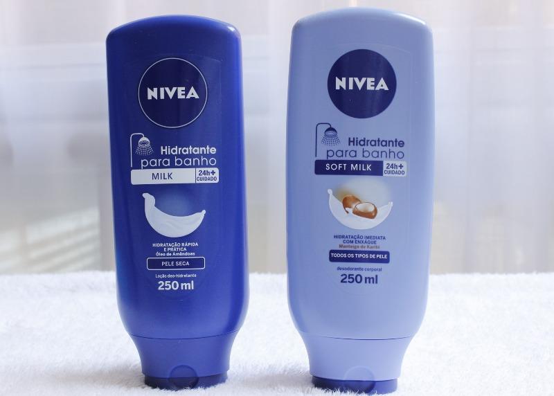 Hidratante de Banho Nivea Milk e Soft Milk - resenha e comparação - qual é melhor?