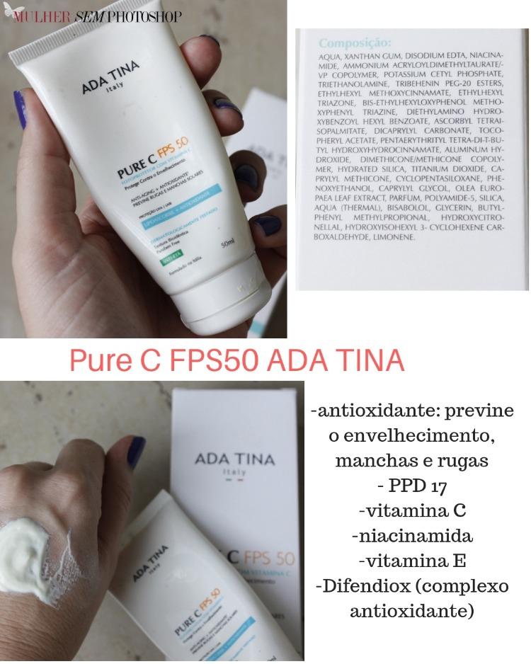 Pure C FPS50 Ada Tina - resenha vitamina C com protetor solar