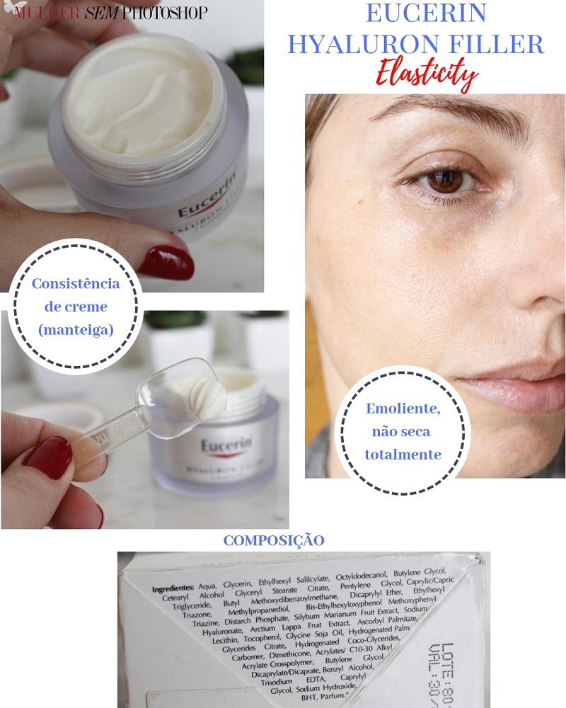 Eucerin Hyaluron Filler Elasticity resenha creme hidratante pele madura