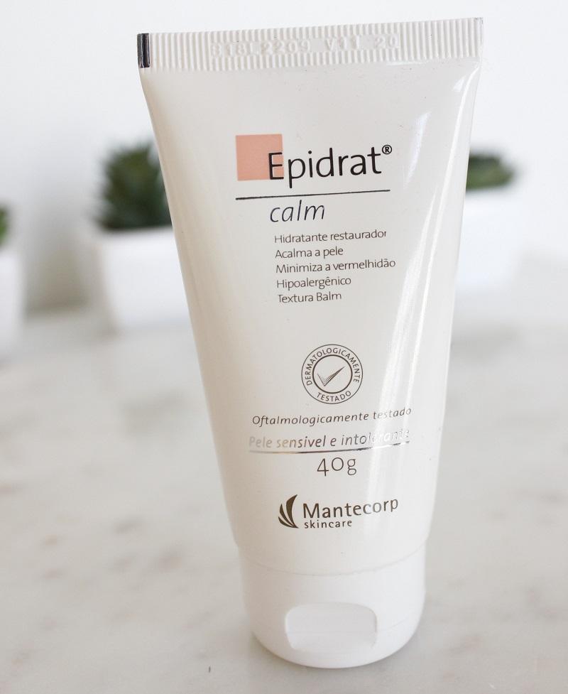 Epidrat Calm resenha de hidratante para pele sensível da Mantecorp Skincare