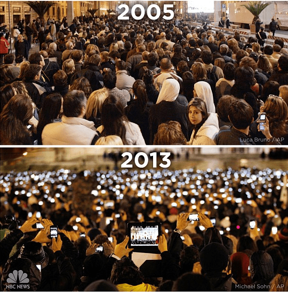 mobile devices at Vatican