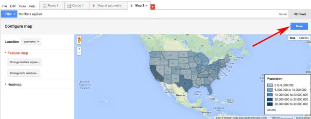 Google heat map study