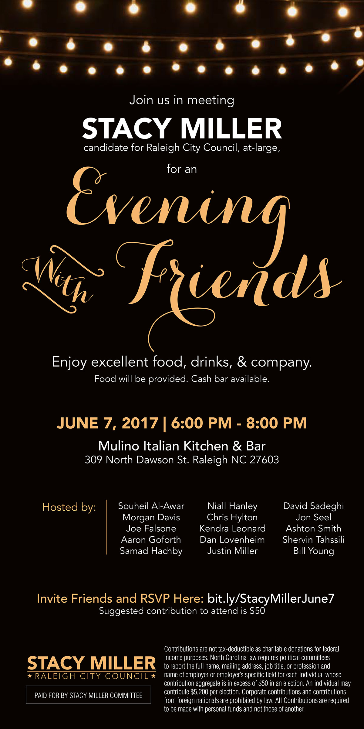 Stacy Miller: An Evening with Friends at Mulino Italian Kitchen & Bar