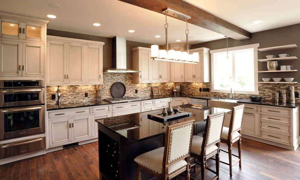 White And Stainless Kitchen