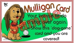 Individual Mulligan golf tickets