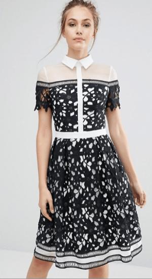 Panel Color Block Dress