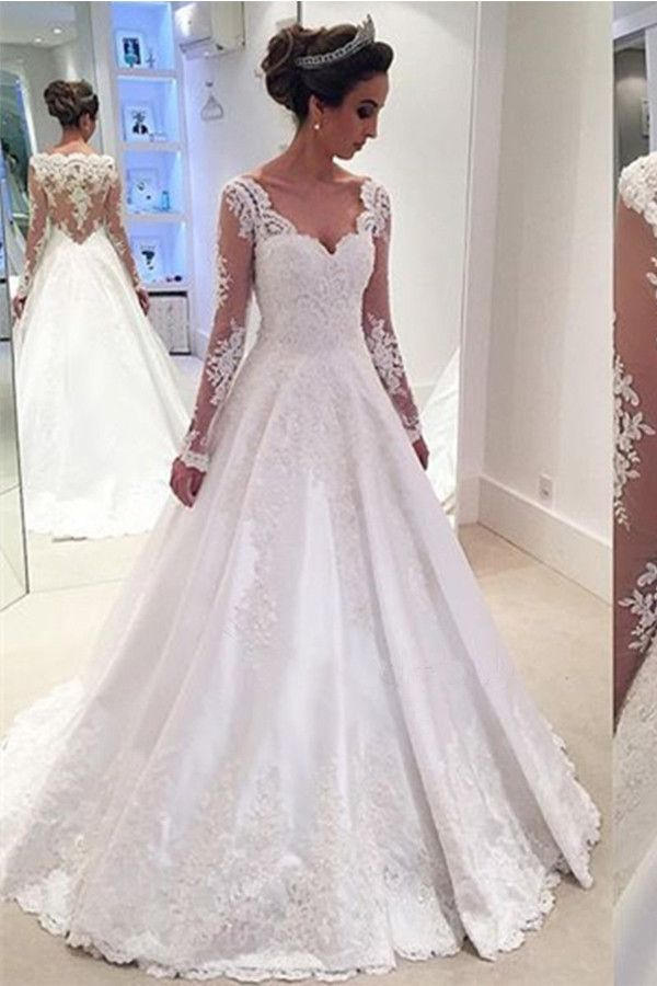 4895d0eef6abaa6362c06d91e78f35bd--lace-princess-wedding-dresses-with-sleeves-poofy-wedding-dress