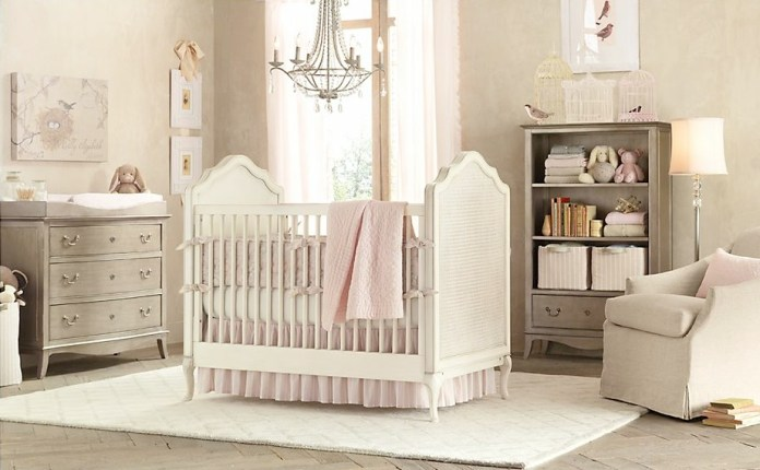 Gray-pink-baby-girls-room