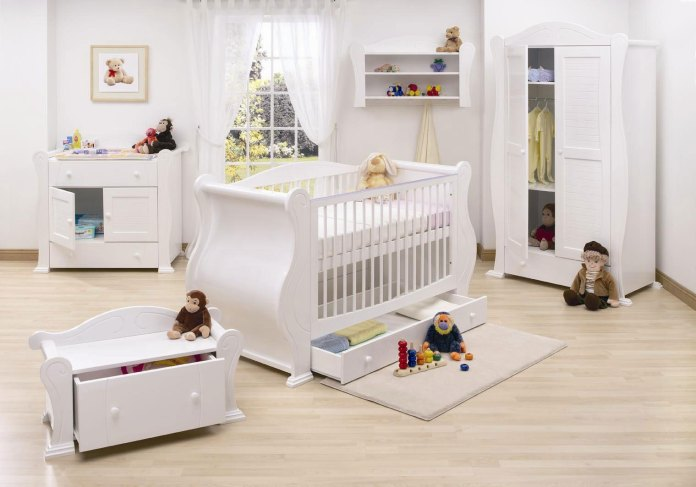 pleasing-beautiful-clean-white-baby-nursery-room-design