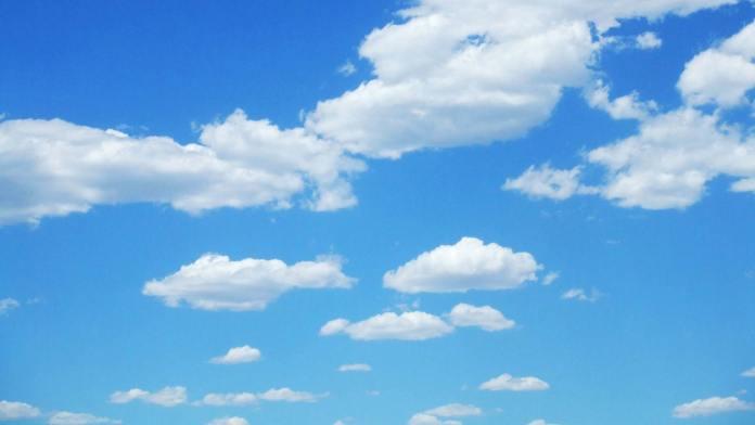 Fundo Ceu Azul Estrelado Desenho Com Nuvens E Mais Background