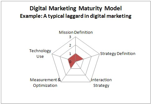 Digital-marketing maturity model example - digital laggards