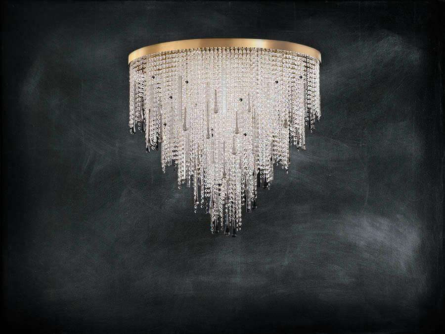 lampadari in cristallo e vetro, design lusso