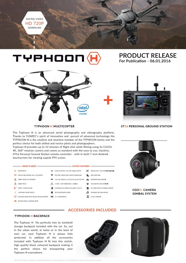 Typhoon H Product Information Sheet-1