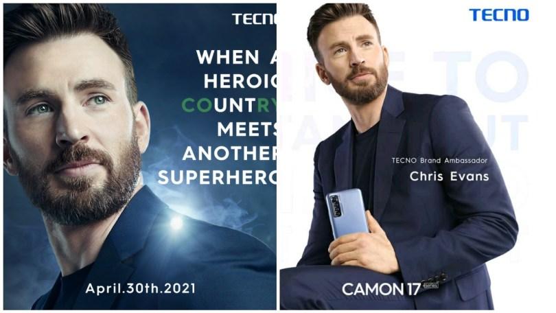 (VIDEO) Tecno NG, Announces Chris Evans as its Global Brand Ambassador