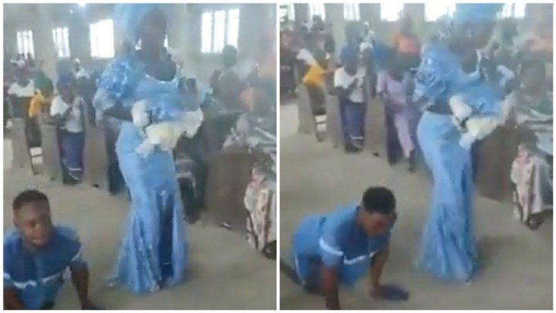 Nigerians' hearts are touched by a disabled husband and his wife's child's dedication