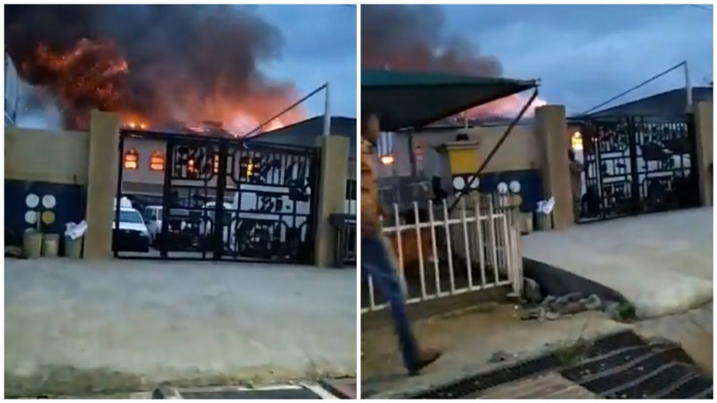 (Video) Pastor Adeboye suffers another setback as the RCCG church burns down in Alapere, Lagos