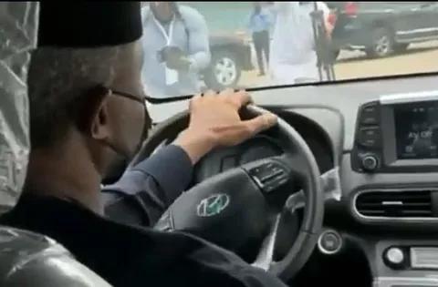 Vice President Osinbajo Testing First Nigerian Electric Car