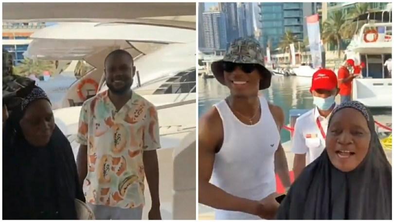 "(Video) ""Mama enjoy life"" – Nigerian footballer, Jude Ighalo takes mother on yacht cruise in Dubai"