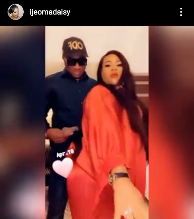 Actress, Nkechi Blessing twerks for her politician lover, Falegan Opeyemi (Video)