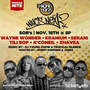 Hot 97 Who's Next Final Reggae Edition for 2014