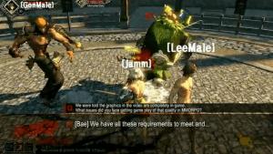 A tidbit of in-game combat