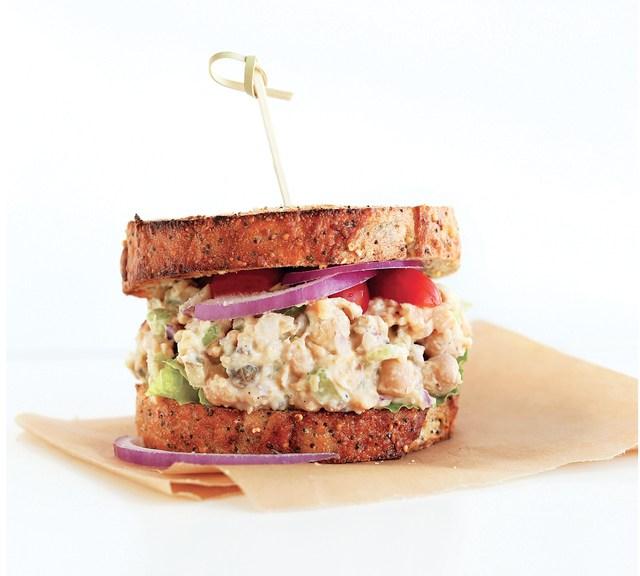 Forks over knives Vegan No-Tuna Salad Sandwich