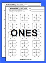 Free Multi Square Multiplication Worksheets