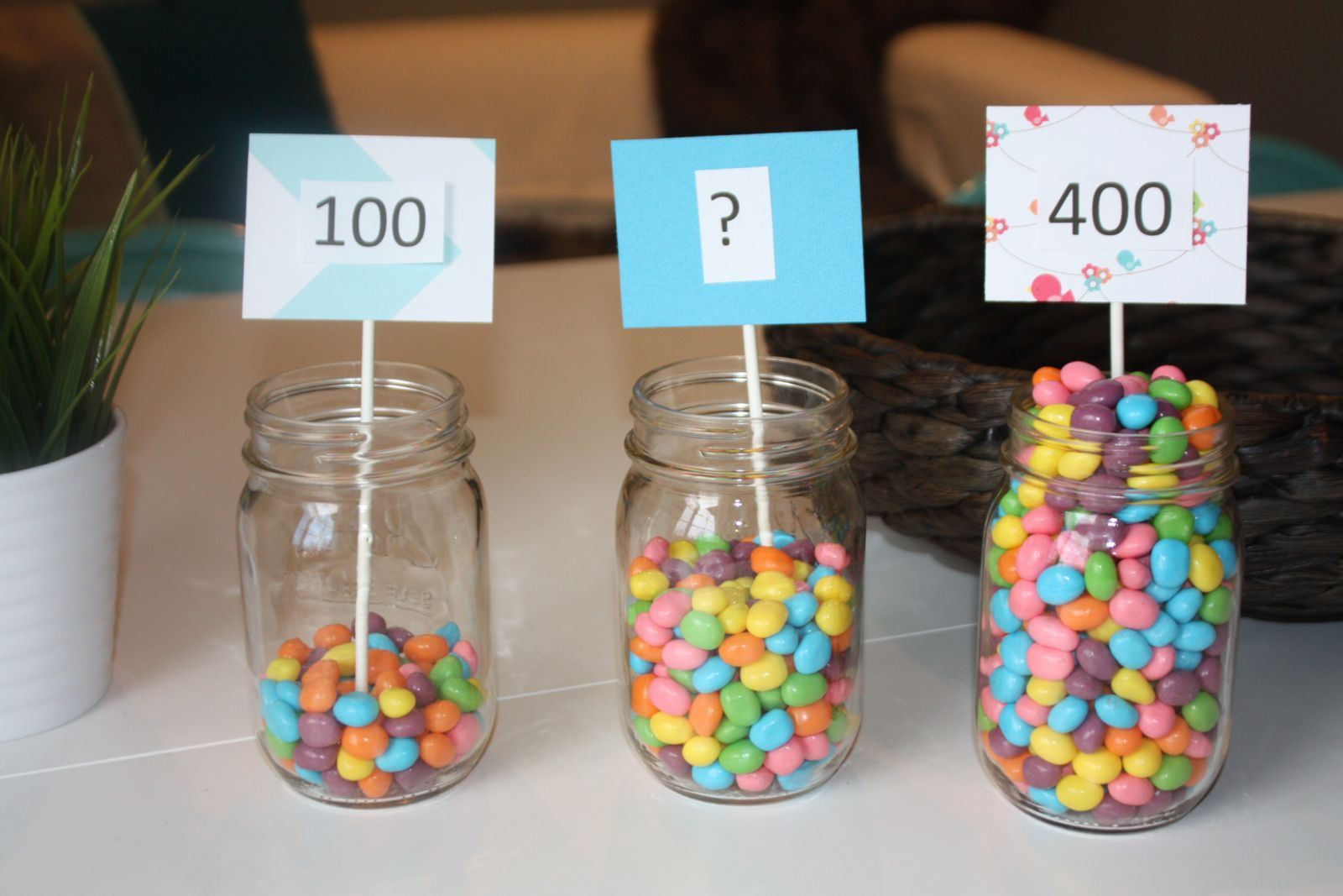 Estimation Jars And Free Printable Worksheet