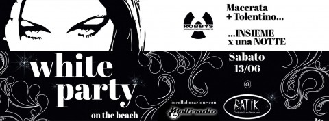 Multiradio al Batik sabato 13 al batik - white party